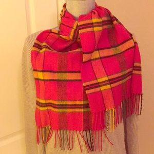 Accessories - Vintage Red Plaid Scarf